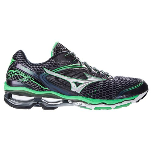 Mens Mizuno Wave Creation 17 Running Shoe - Slate/Green 7.5