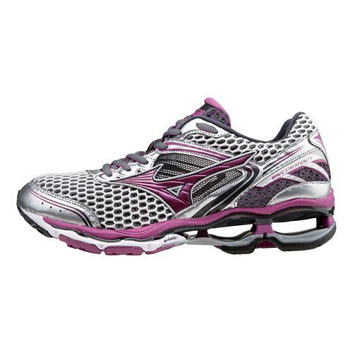 Womens Mizuno Wave Creation 17 Running Shoe - Silver/Wild Aster 8