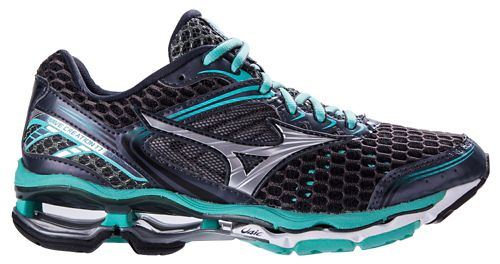 Womens Mizuno Wave Creation 17 Running Shoe - Grey/Florida Keys 6