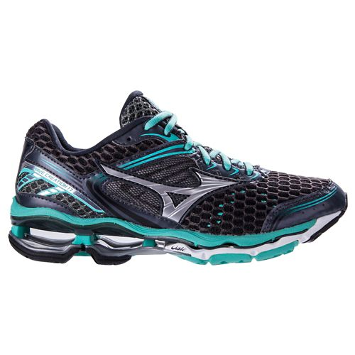 Womens Mizuno Wave Creation 17 Running Shoe - Grey/Florida Keys 7
