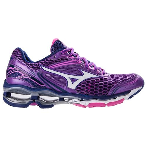 Womens Mizuno Wave Creation 17 Running Shoe - Pansy/Electric 10.5