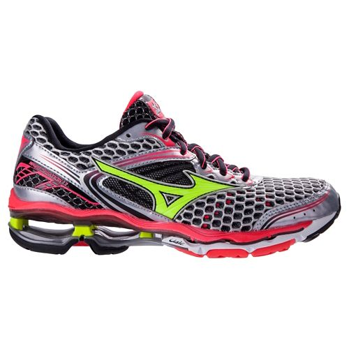 Womens Mizuno Wave Creation 17 Running Shoe - Silver/Pink 6.5