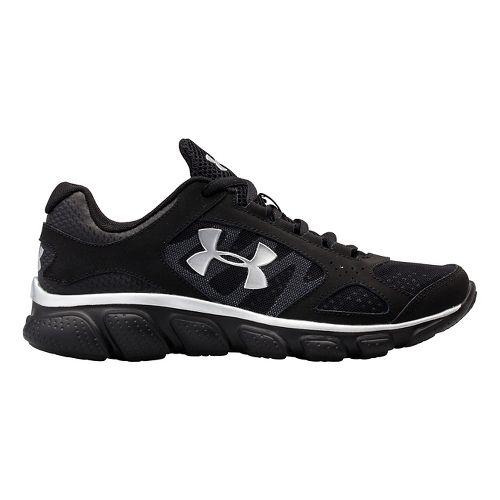 Kids Under Armour BGS Assert V Running Shoe - Black/Black 4.5