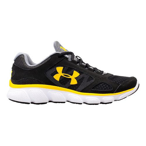 Kids Under Armour BGS Assert V Running Shoe - Black/Black 5.5