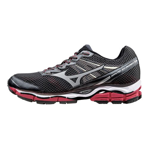 Mens Mizuno Wave Enigma 5 Running Shoe - Charcoal/Red 10.5