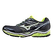 Mens Mizuno Wave Enigma 5 Running Shoe - Slate/Safety Yellow 8.5