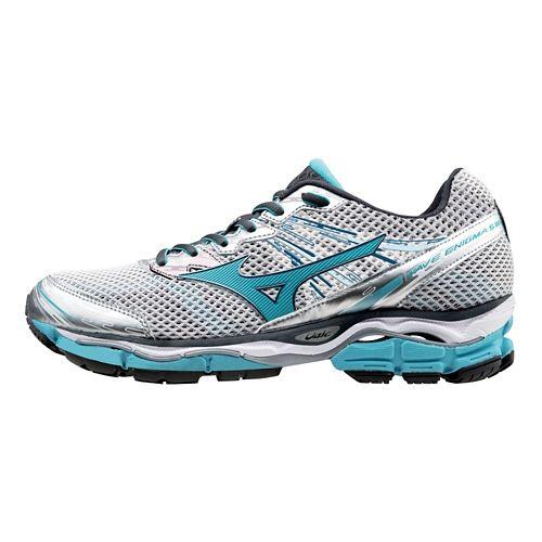 Womens Mizuno Wave Enigma 5 Running Shoe - Silver/Blue Atoll 6