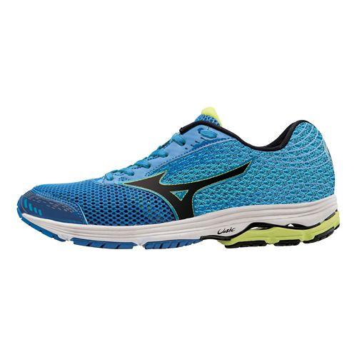 Mens Mizuno Wave Sayonara 3 Running Shoe - Electric Blue/Lime 10.5