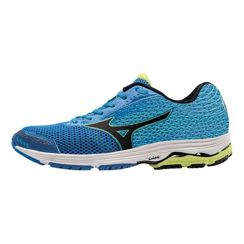 Mens Mizuno Wave Sayonara 3 Running Shoe - Electric Blue/Lime 12.5