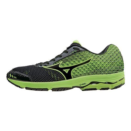 Mens Mizuno Wave Sayonara 3 Running Shoe - Black/Neon 10
