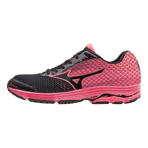 Womens Mizuno Wave Sayonara 3 Running Shoe - Black/Pink 8