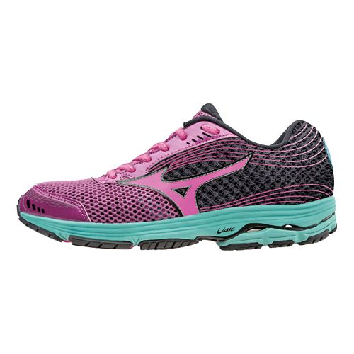 Womens Mizuno Wave Sayonara 3 Running Shoe - Wild Aster/Electric 8.5