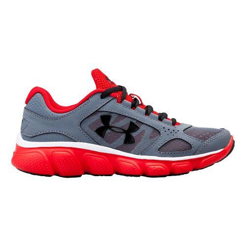 Kids Under Armour BPS Assert V Running Shoe - Gravel/Red 11