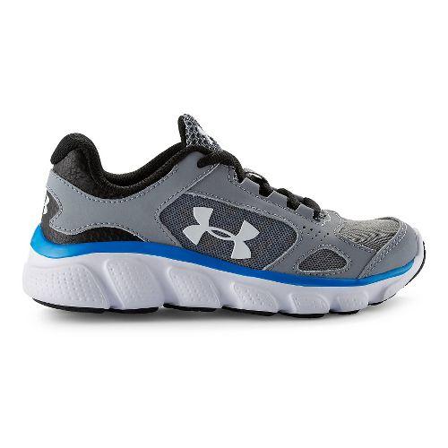 Kids Under Armour BPS Assert V Running Shoe - Steel/Blue Jet 13C