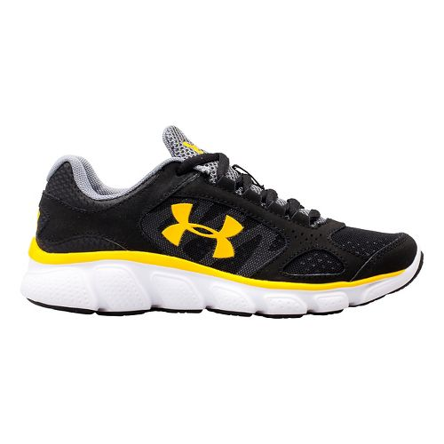 Kids Under Armour BPS Assert V Running Shoe - Gravel/Red 10.5