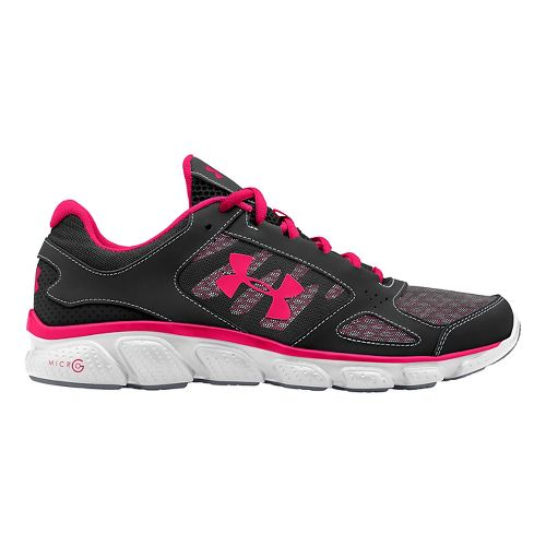 Womens Under Armour Micro G Assert V Running Shoe - Black/White 5.5
