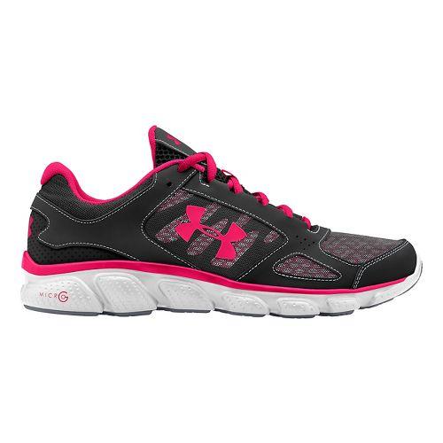 Womens Under Armour Micro G Assert V Running Shoe - Black/White 8.5