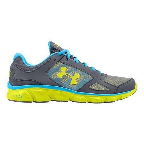 Womens Under Armour Micro G Assert V Running Shoe - Graphite/Island Blue 12
