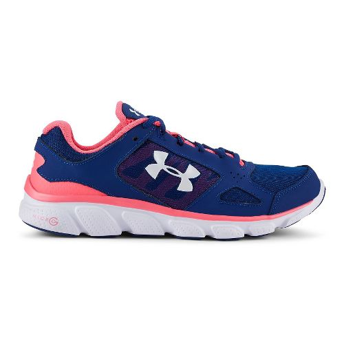 Womens Under Armour Micro G Assert V Running Shoe - American Blue/Cerise 5