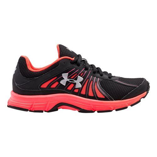 Womens Under Armour Dash RN Running Shoe - Black/Neo Pulse 7
