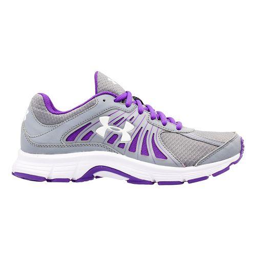 Womens Under Armour Dash RN Running Shoe - Steel/Pride 7.5