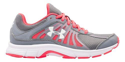 Womens Under Armour Dash RN Running Shoe - Steel/Pink Shock 7.5