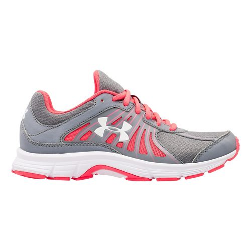 Womens Under Armour Dash RN Running Shoe - Steel/Pink Shock 8.5