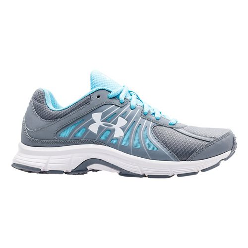 Womens Under Armour Dash RN Running Shoe - Steel/Sky Blue 7