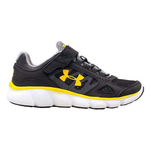 Kids Under Armour BPS Assert V AC Running Shoe - Black/Steel 12.5