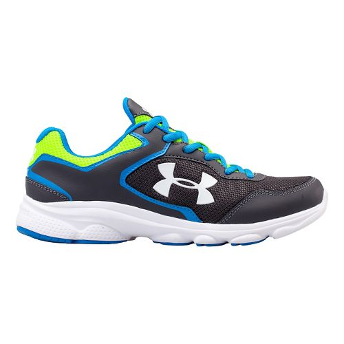 Kids Under Armour BGS Escape Run Running Shoe - Charcoal/Blue Jet 4