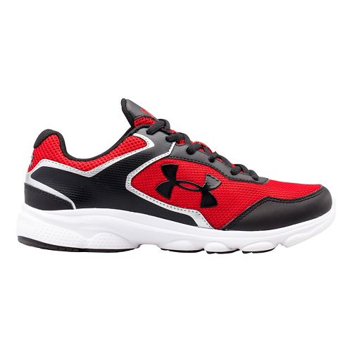 Kids Under Armour BGS Escape Run Running Shoe - Charcoal/Blue Jet 3.5