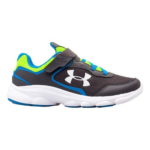 Kids Under Armour BPS Escape Run AC Running Shoe - Charcoal/Blue Jet 12.5