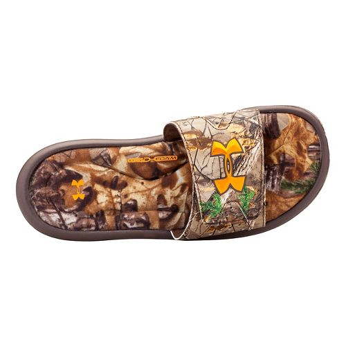 Kids Under Armour Ignite Camo IV SL Sandals Shoe - Real Tree/Brown 1