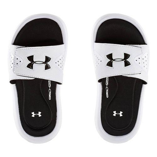 Kids Under Armour Ignite IV SL Sandals Shoe - White 12C