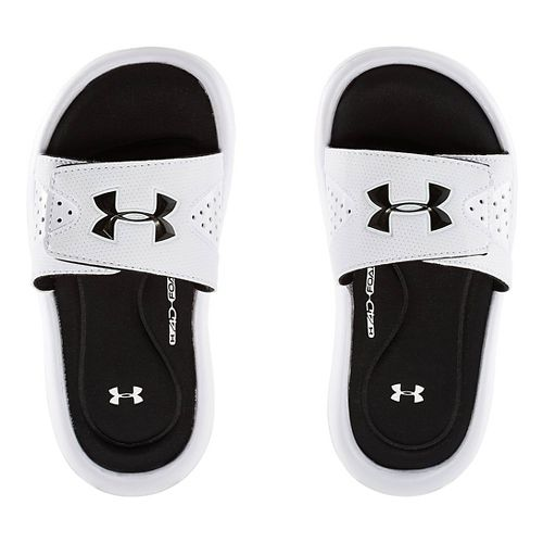 Kids Under Armour Ignite IV SL Sandals Shoe - White 6
