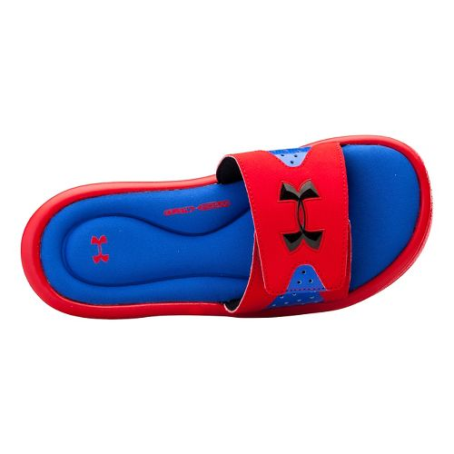 Kids Under Armour Ignite IV SL Sandals Shoe - Red/Royal 13