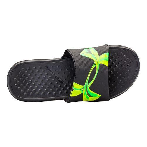Kids Under Armour Strike Chrome SL Sandals Shoe - Black 3