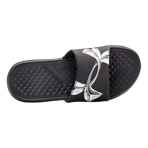 Kids Under Armour Strike Chrome SL Sandals Shoe - Black/Steel 11