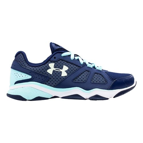 Womens Under Armour Micro G Strive V Running Shoe - Blue Knight/Veneer 12
