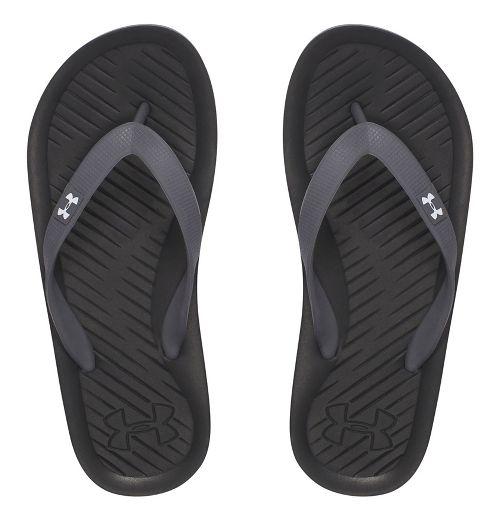 Under Armour Atlantic Dune T Sandals Shoe - Black/Graphite 5Y