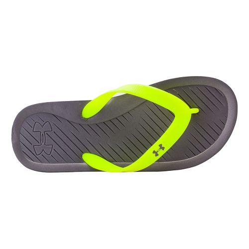 Kids Under Armour Atlantic Dune T Sandals Shoe - Graphite/Yellow 6
