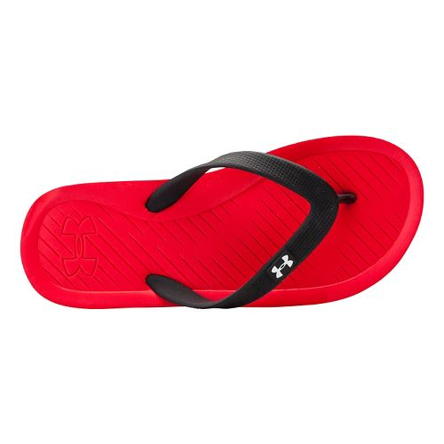 Kids Under Armour Atlantic Dune T Sandals Shoe - Red/Black 3