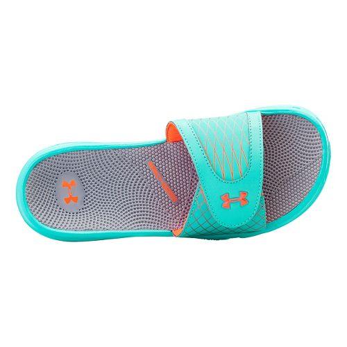 Womens Under Armour Micro G EV SL Sandals Shoe - Mosaic/Steel 10