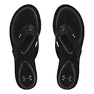 Womens Under Armour TropicFlo LTH T Sandals Shoe - Black 12