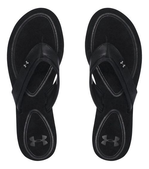 Womens Under Armour TropicFlo LTH T Sandals Shoe - Black 10