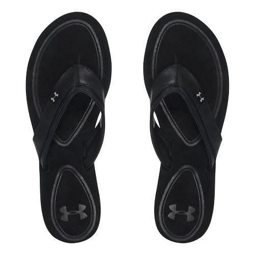 Womens Under Armour TropicFlo LTH T Sandals Shoe - Black 8
