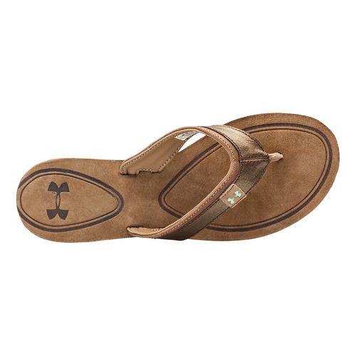 Womens Under Armour TropicFlo LTH T Sandals Shoe - Cleveland Brown 11