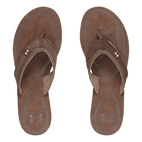Womens Under Armour TropicFlo LTH T Sandals Shoe - Cleveland Brown 8