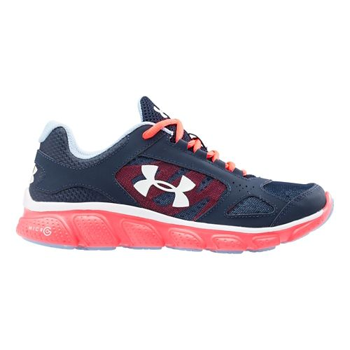 Kids Under Armour Assert V Running Shoe - Academy/Neo Pulse 4.5Y
