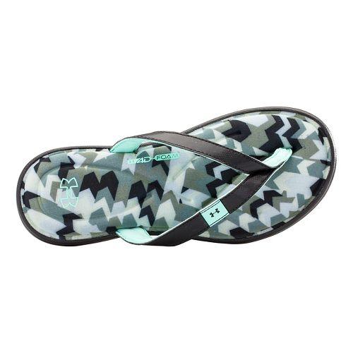 Womens Under Armour Marbella Aztec IV T Sandals Shoe - Black/Graphite 7